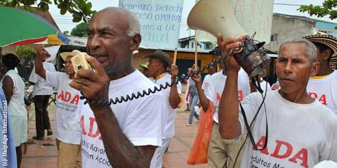 Older activists in Latin America campaigning.