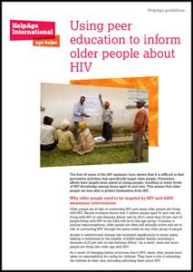 Using peer education to inform older people about HIV