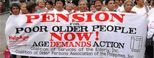 What social pensions exist, and where?