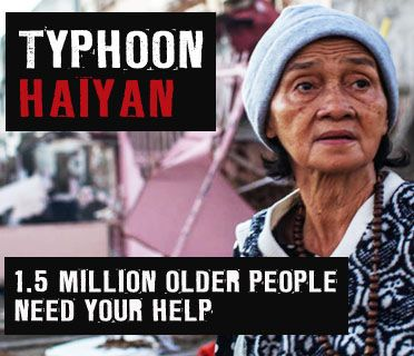 Typhoon Haiyan. 1.5 million older people need your help. (c) Luis Liwanag/HelpAge International.