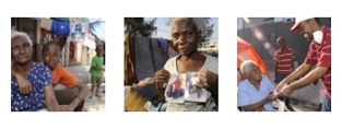 Photogallery thumbnails from Haiti.