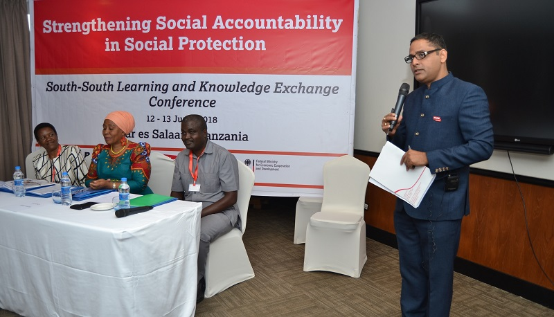 Dr Prafulla Mishra speaking at the South-South conference