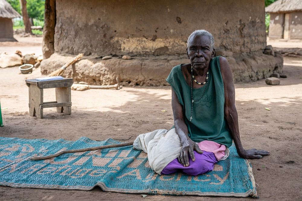Ria fled South Sudan for Uganda when violence erupted (c) Ben Small/HelpAge International