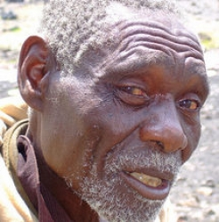 75-year-old Sebanet had to flee his home when his village was attacked.