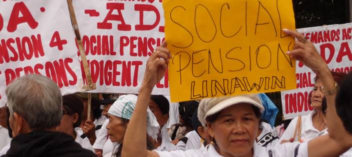 An older activist in the Philippines calls for social pensions.