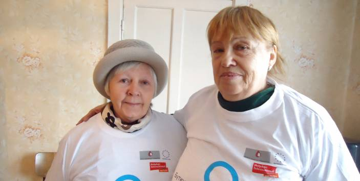 Tamara, 68, (right) set up an older people's self-help group.