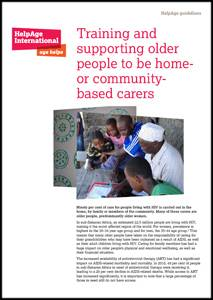 Training and supporting older people to be home- or community-based carers