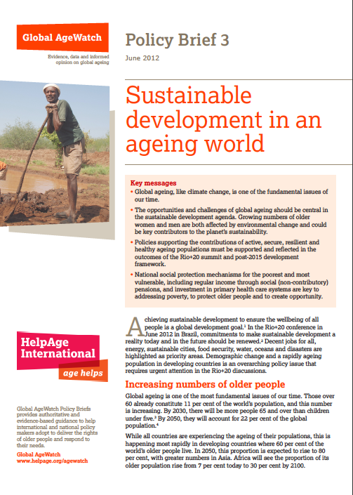Global AgeWatch Policy Briefing 3