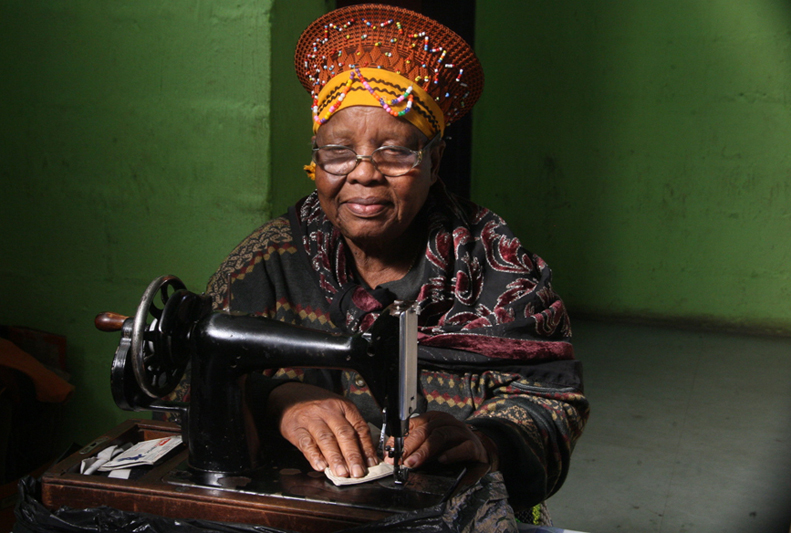 Mama u Mtalane, 93, from South Africa can now read and write, and receives a pension.
