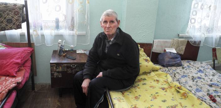 Vladimir fled his home to escape the fighting.